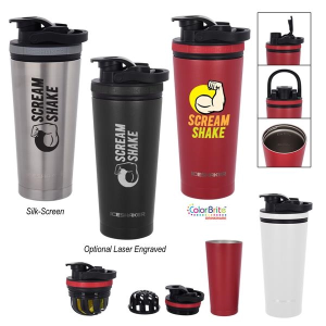 26 Oz. Stainless Steel Ice Shaker Bottle